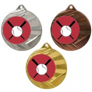 """Baseball 50mm Medal with 1"""" Centre"""