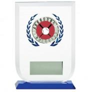 Multisport Glass Award with Baseball Insert