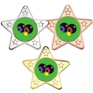 Bowls Star Shaped Medals