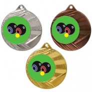 "Bowls 50mm Medal with 1"" Centre"