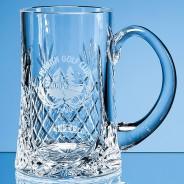 Crystal Panelled Pint Tankard