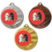 """Chess 50mm Medal with 1"""" Centre"""