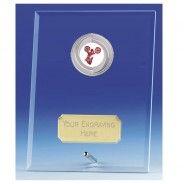 Crest Jade Glass Plaque with Cheerleading Insert