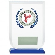 Multisport Glass Award with Cheerleading Insert