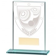 Millennium Lawn Bowls Jade Glass Award