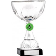 Silver Cup Trophy with Cycling Insert