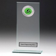 Jade Glass Gladiator Plaque with Cycling Insert