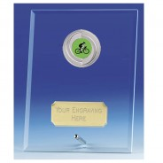 Crest Jade Glass Plaque with Cycling Insert
