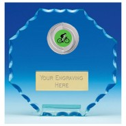 Pioneer Jade Glass Plaque with Cycling Insert
