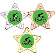 Cycling Star Shaped Medals