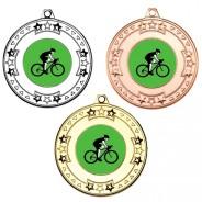 Cycling Tri Star Medals