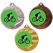 """Cycling 50mm Medal with 1"""" Centre"""