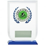 Multisport Glass Award with Cycling Insert