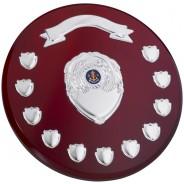 Rosewood Round Presentation Shield