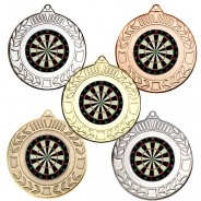 Darts Wreath Medals