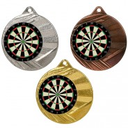"Darts 50mm Medal with 1"" Centre"