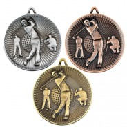 Golf Deluxe Medal 60mm