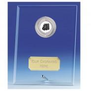 Crest Jade Glass Plaque with Dominoes Insert