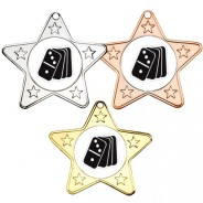 Dominoes Star Shaped Medals