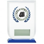 Multisport Glass Award with Dominoes Insert
