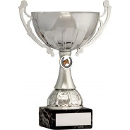 Silver Cup Trophy with Equestrian Insert