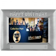 Happy Birthday Metal Photo Frame