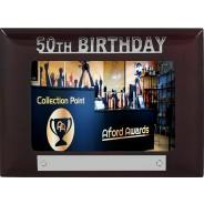 50th Birthday Wooden Photo Frame