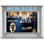 New Baby Blue Metal Photo Frame