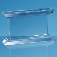 Optical Crystal Janus Mounted Rectangle Award
