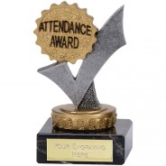 Silver and Gold Attendance Tick Trophy