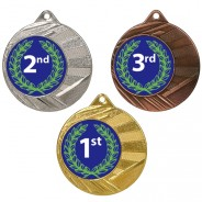 """1st, 2nd, 3rd 50mm Medal with 1"""" Centre"""