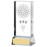 Darts Lasered Glass Block