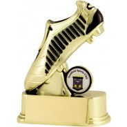 Gold / Black Football Boot Trophy