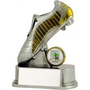 Silver / Gold Football Boot Trophy