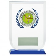 Multisport Glass Award with Gymnastics Insert