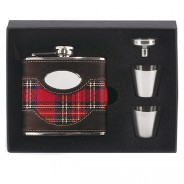 Vision Brown leather & Tartan Flask