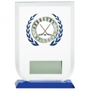 Multisport Glass Award with Ice Hockey Insert