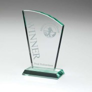Jade Glass Sail Plaque (15MM THICK)