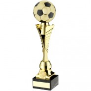 Gold/Black Plastic Football Trophy On Marble Base