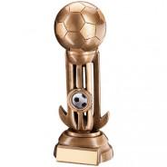 Bronze/Gold Football In Goalkeeper Gloves Trophy