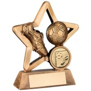 Bronze/Gold Resin Football Mini Star Trophy