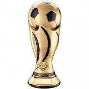 Gold/Black Football Swirl Column Trophy - Managers Player