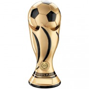 Gold/Black Football Swirl Column Trophy - Parents Player