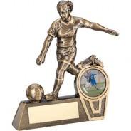 Bronze/Gold Mini Female Football Figure Trophy