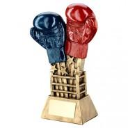 Bronze / Gold Boxing Gloves Star Burst Trophy
