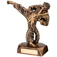 Bronze/Gold Resin Karate Figure Trophy
