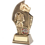 Bronze/Gold Martial Arts Curved Plaque Trophy