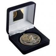 Black Velvet Box and 60mm Martial Arts Medal