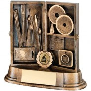 Bronze/Gold Resin Angling Tackle Box Trophy