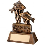 Bronze/Gold Resin Angling Trophy